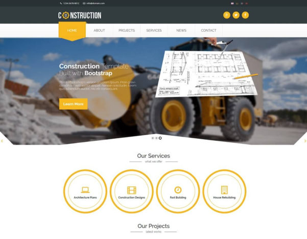 23 Best Html Construction Company Templates 2018   Colorlib With Company Templates