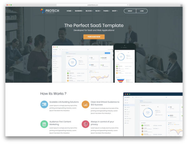 26 Best Software Company Website Templates 2018   Colorlib And Company Templates