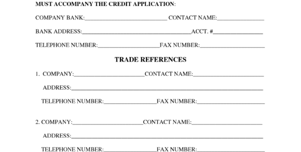 28 Images Of Blank Credit Reference Template | Geldfritz Inside Throughout Business Credit Reference Form