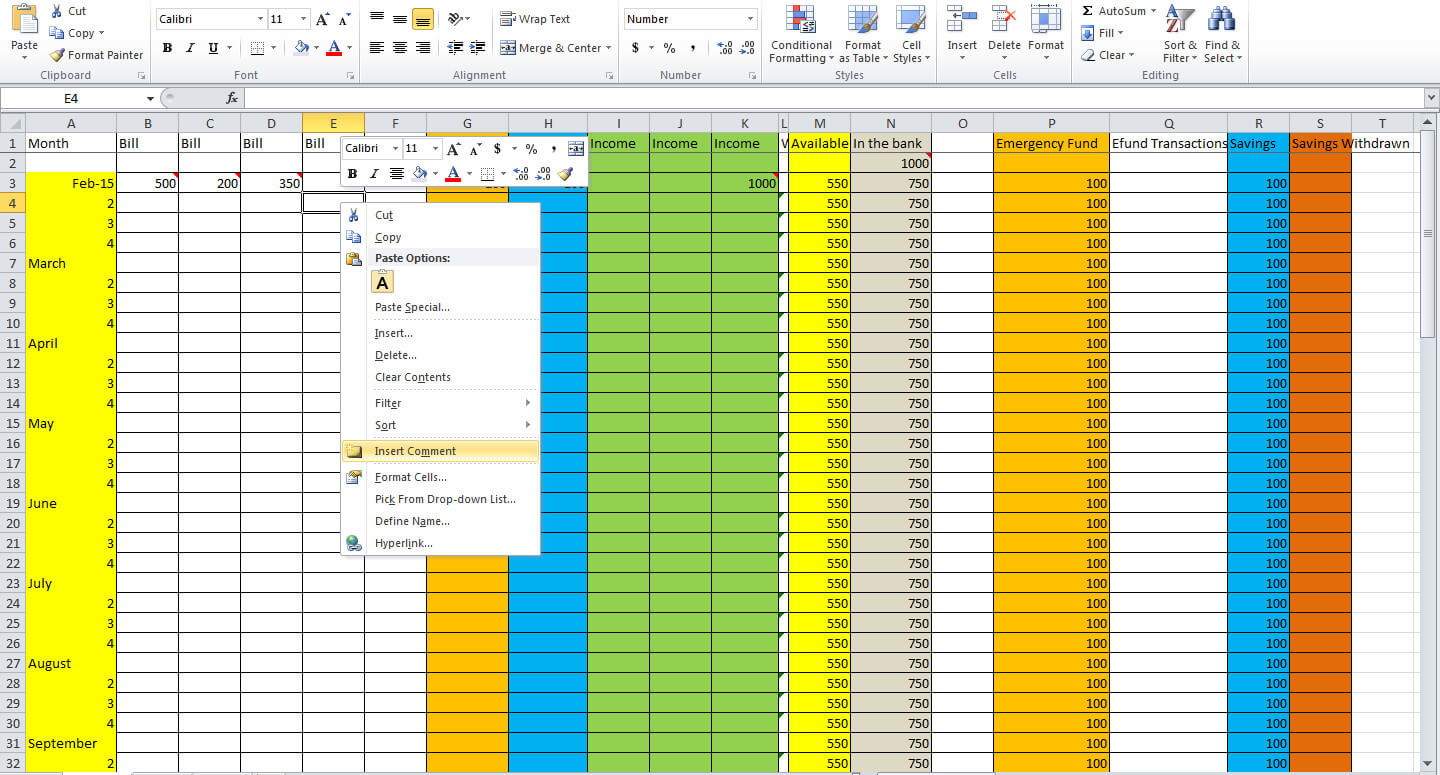 3 Essential Tips For Creating A Budget Spreadsheet - Tastefully Eclectic for Spreadsheet For A Budget
