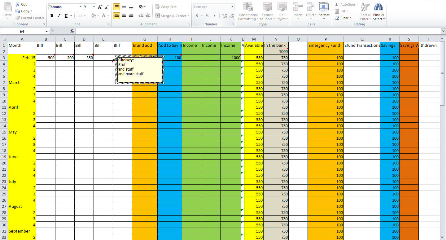 3 Essential Tips For Creating A Budget Spreadsheet - Tastefully Eclectic Throughout How To Make A Household Budget Spreadsheet