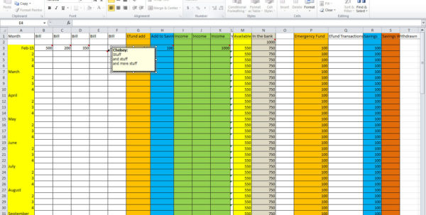 3 Essential Tips For Creating A Budget Spreadsheet   Tastefully Eclectic To Spreadsheet For A Budget