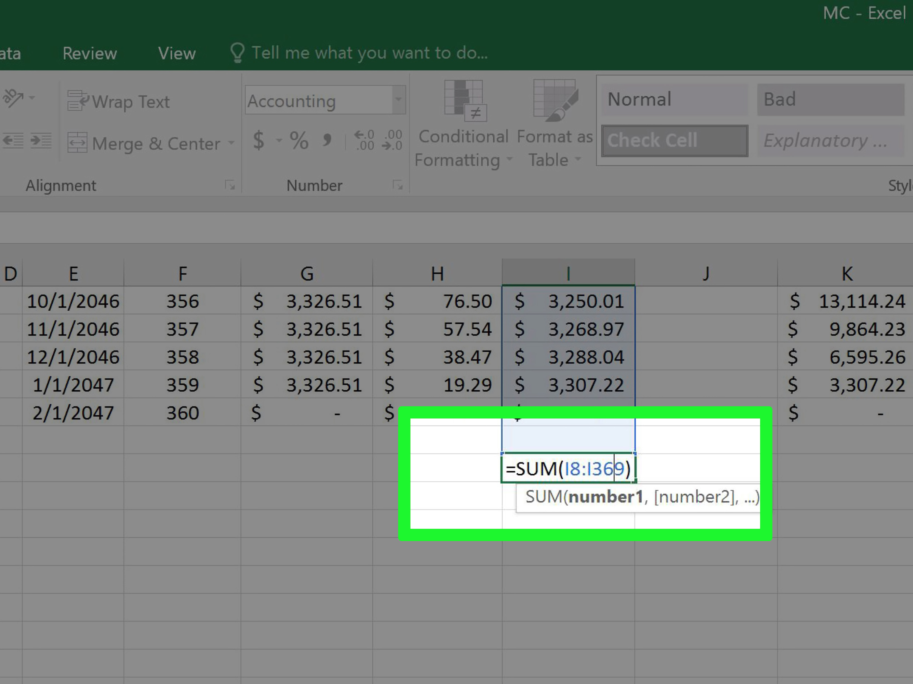 3 Ways To Create A Mortgage Calculator With Microsoft Excel With Basic Accounting Excel Formulas