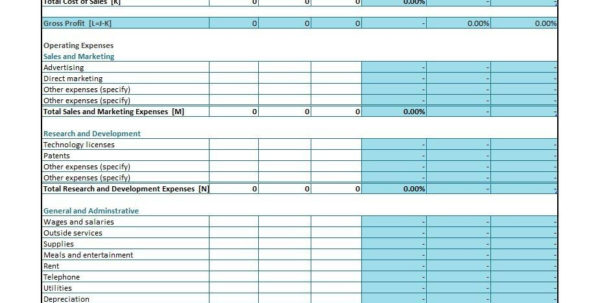 35  Profit And Loss Statement Templates & Forms And Business Profit And Loss Spreadsheet