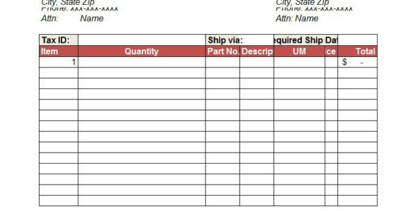 37 Free Purchase Order Templates In Word & Excel For Purchase Order Spreadsheet