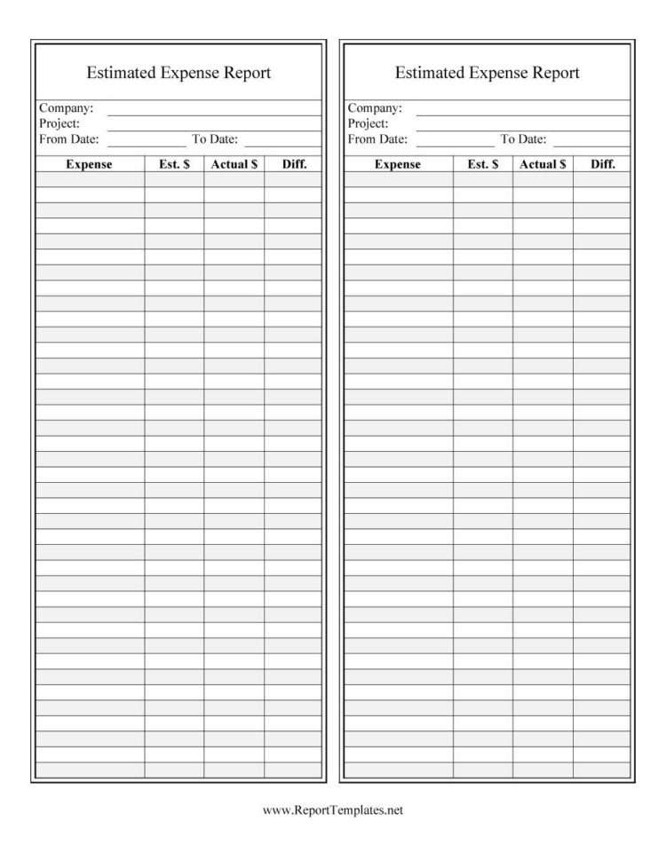 generic expense report form generic expense report free downloadable expense report form generic expense report pdf generic expense report  40  Expense Report Templates To Help You Save Money   Template Lab Intended For Generic Expense Report Generic Expense Report Expense Spreadshee
