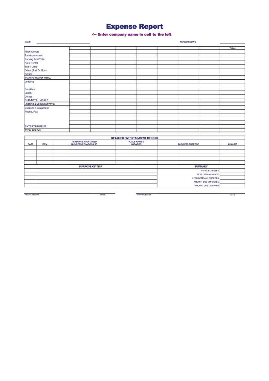 40  Expense Report Templates To Help You Save Money   Template Lab With Company Expense Report Company Expense Report Expense Spreadshee Expense Spreadshee company monthly expense report