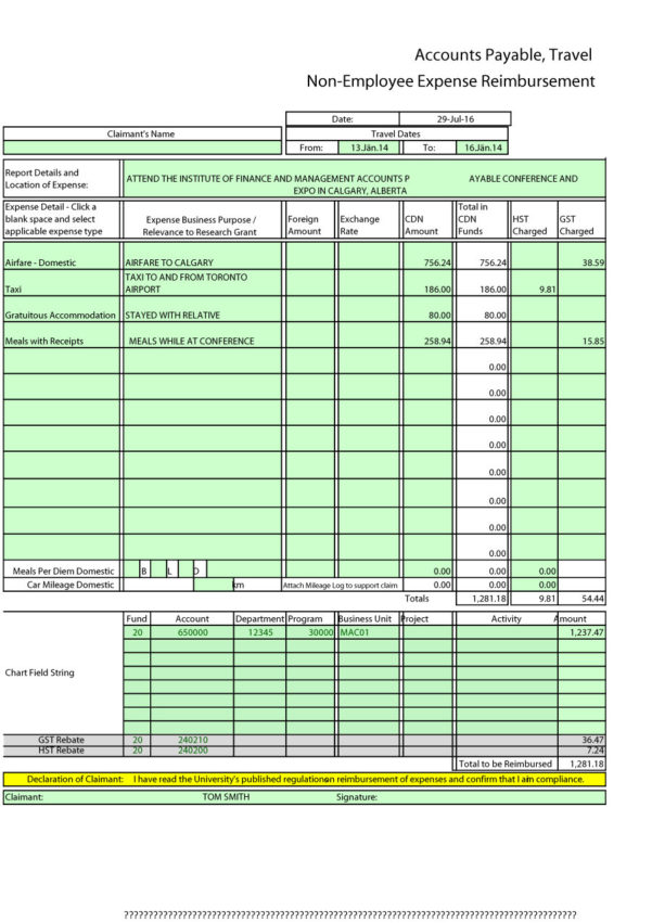 40  Expense Report Templates To Help You Save Money   Template Lab Within Business Expense Form Template Free