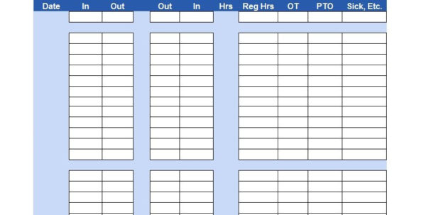 40 Free Timesheet / Time Card Templates   Template Lab Inside Employee Time Tracking Spreadsheet Template