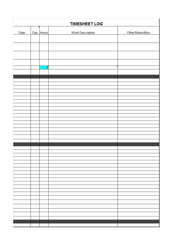 employee paid time off tracking spreadsheet  40 Free Timesheet / Time Card Templates   Template Lab Within Employee Paid Time Off Tracking Spreadsheet Employee Paid Time Off Tracking Spreadsheet Tracking Spreadshee