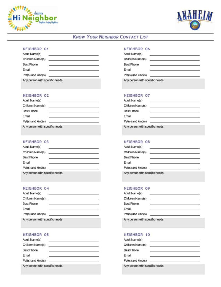 40 Phone & Email Contact List Templates [Word, Excel]   Template Lab To Email Contact List Template