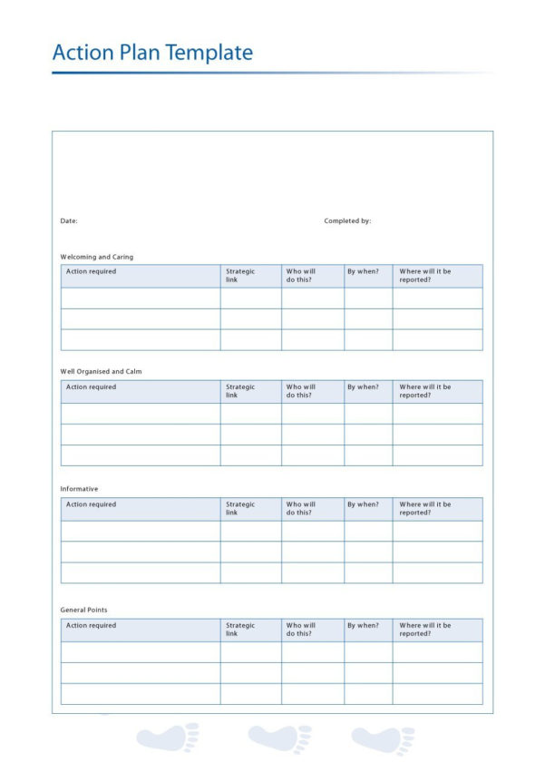 45 Free Action Plan Templates (Corrective, Emergency, Business) Throughout Business Plan Spreadsheet Template Free