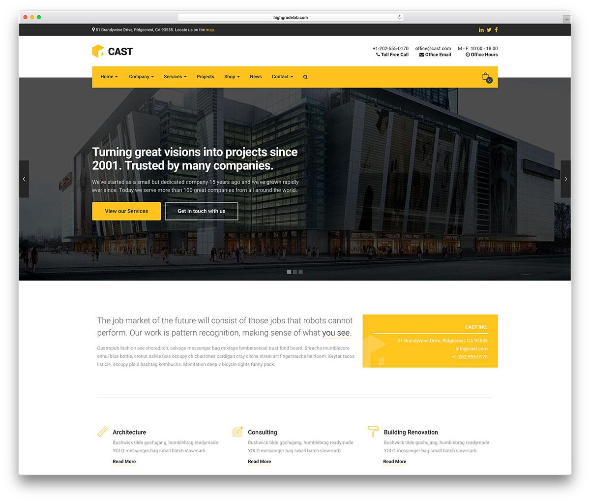 46 Best Construction Company Wordpress Themes 2018   Colorlib With Company Templates Company Templates Expense Spreadshee Expense Spreadshee company templates word