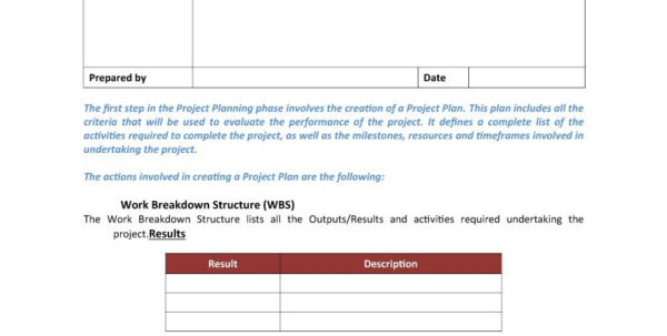 project plan timeline template free