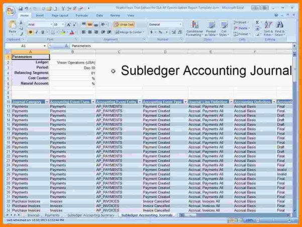 5  Accounts Receivable Ledger Excel Template | Ledger Review With Free Accounts Payable Ledger Template