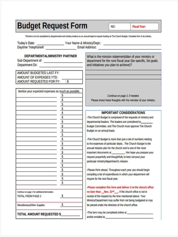 5 Church Budget Form Sample Free Sample, Example Format Download In Budget Forms Sample