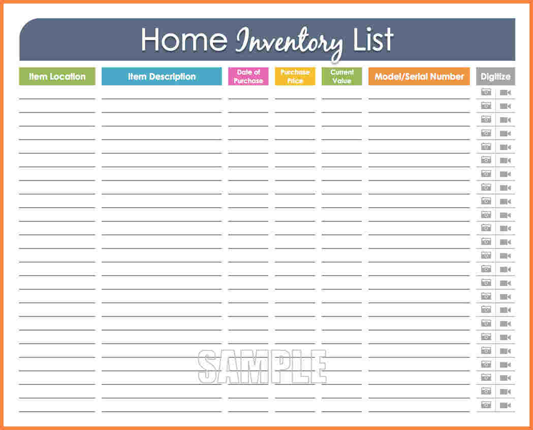 5  Household Inventory Spreadsheet | Budget Spreadsheet With Household Inventory Spreadsheet