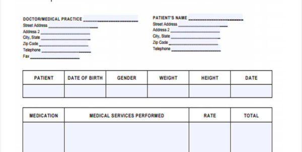 5  Medical Invoice Form Samples   Free Sample, Example Format Download In Medical Invoice Template