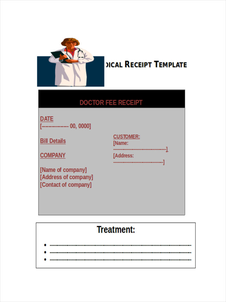 5  Medical Receipts Examples & Samples Throughout Medical Invoice Template