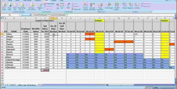5 Salary Sheet Template In Excel | Simple Salary Slip Intended For To Samples Of Excel Spreadsheets