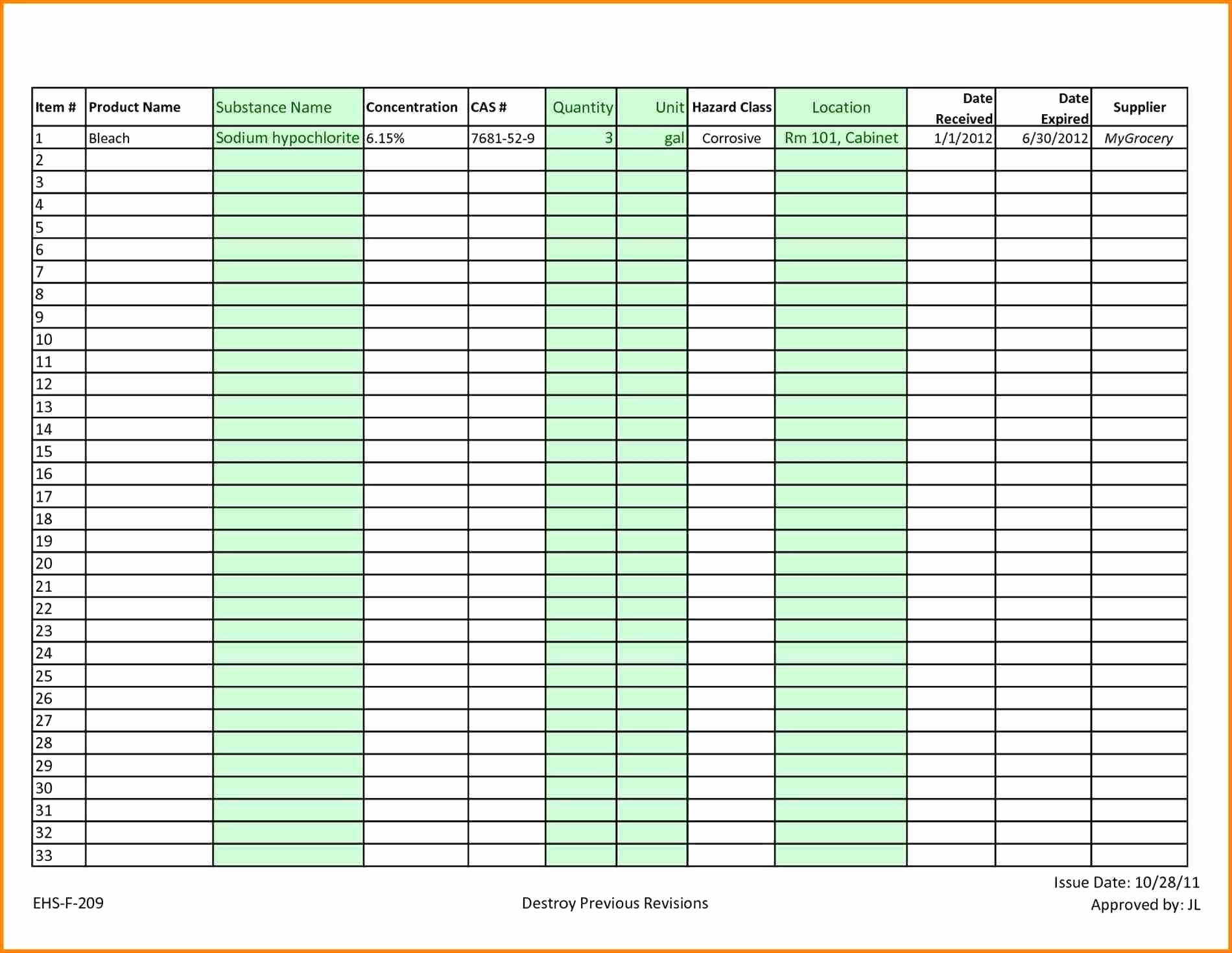 50 Inspirational Stock Maintain In Excel Sheet Free Download Within Inventory Excel Sheet Free Download