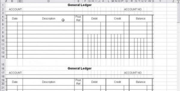 54 Small Business Accounting Ledger Template Primary – Markposts With Small Business Ledger Template