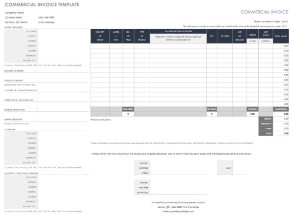 55 Free Invoice Templates | Smartsheet And Billing Spreadsheet Template