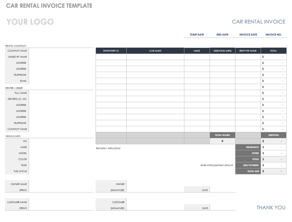 55 Free Invoice Templates | Smartsheet Throughout Rent Invoice Template