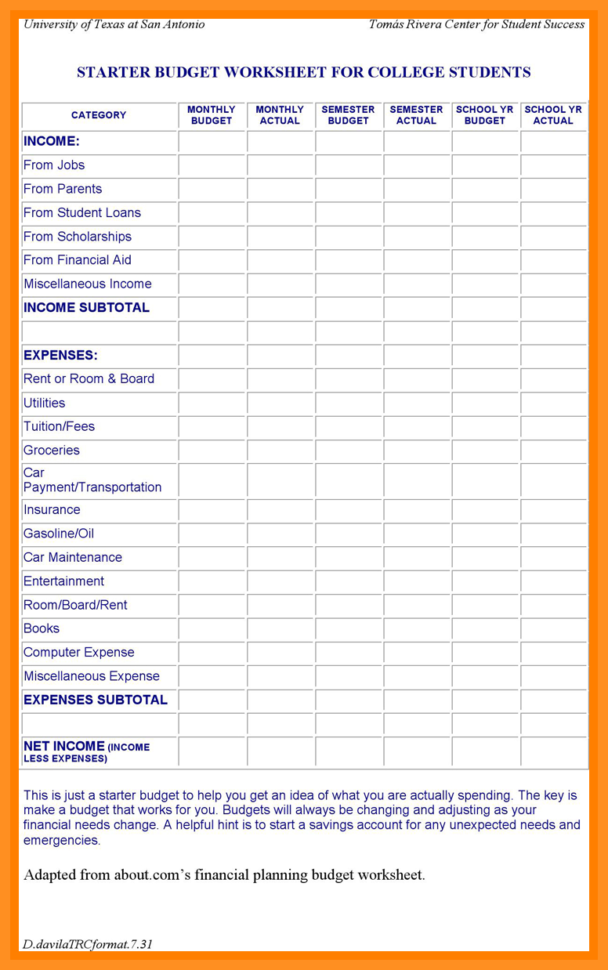 college budget template college club budget template after college budget template college budget template pdf college budget template free college budget template google sheets college graduate budget template  6 7 Budget Spreadsheet Schablone | Archiefsuriname In College Budget Template College Budget Template Expense Spreadshee