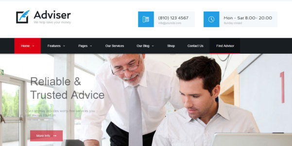 7 Best Accountant Wordpress Themes   Designorbital Throughout Accounting Website Templates Wordpress
