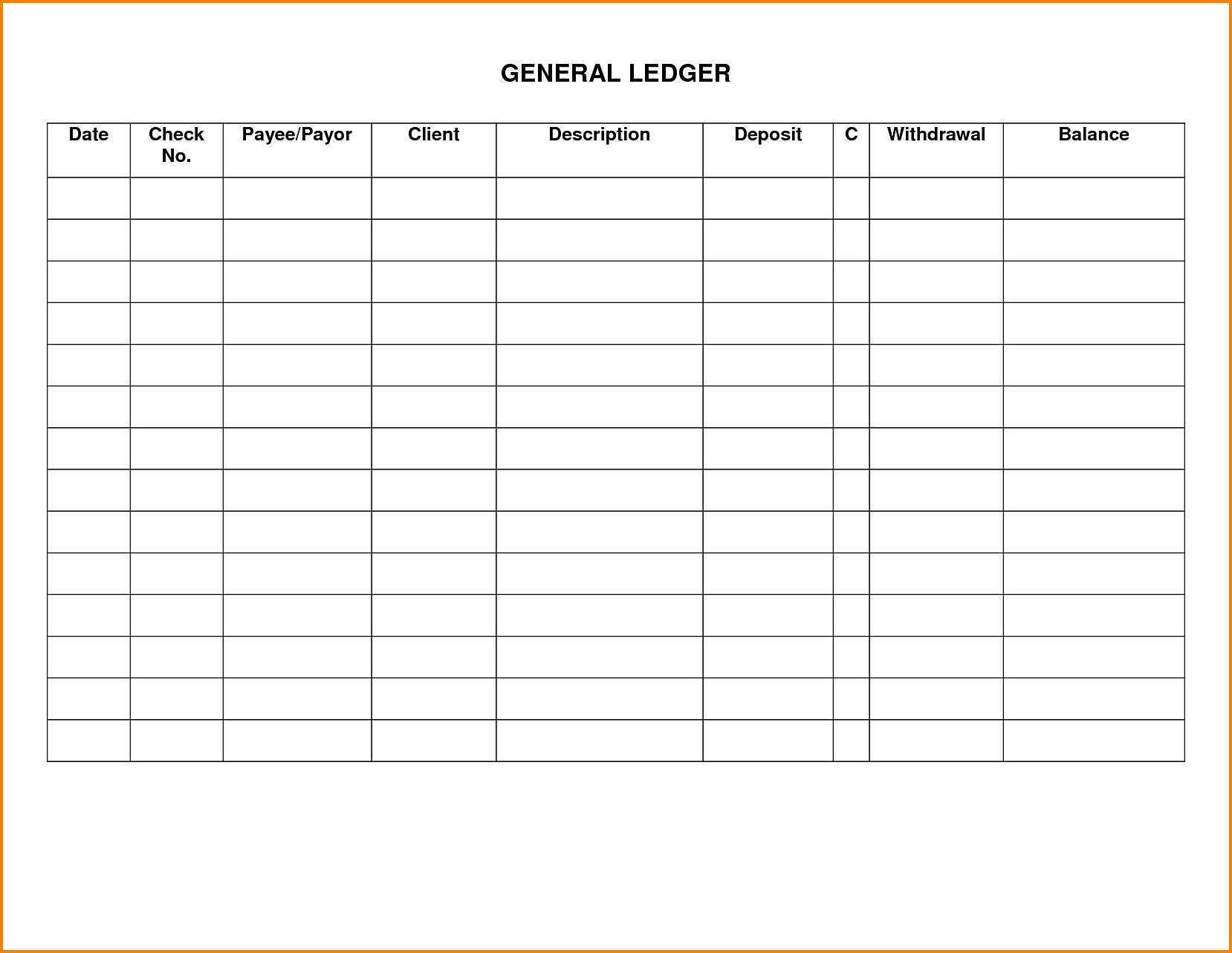 7 Docs Business Ledger Template | Ledger Entries Within Small In Small Business General Ledger Template