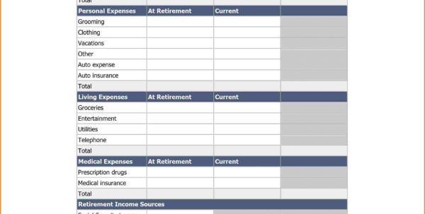 7 Retirement Planning Spreadsheet Templates | Excel Spreadsheets Intended For Online Budget Calculator Spreadsheet