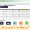 8  Create An Attendance Tracking Template | Grittrader And Attendancetracking Spreadsheet Template
