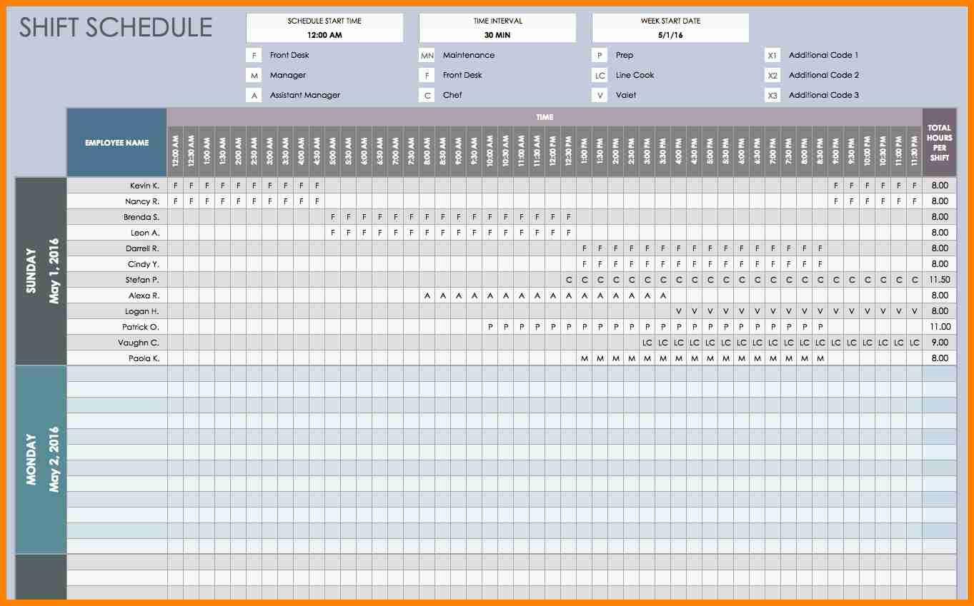 8  Employee Schedule Spreadsheet | This Is Charlietrotter With Employee Schedule Spreadsheet