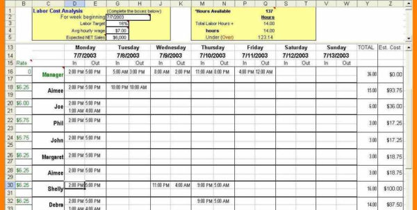 8  Employee Scheduling Spreadsheet Excel | Credit Spreadsheet In Employee Schedule Excel Spreadsheet