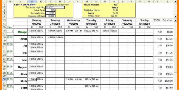 8  Employee Scheduling Spreadsheet Excel | Credit Spreadsheet With Employee Schedule Spreadsheet