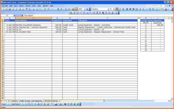 8 Monthly Expenses Spreadsheet Template | Excel Spreadsheets Group Throughout Spreadsheet For Monthly Expenses