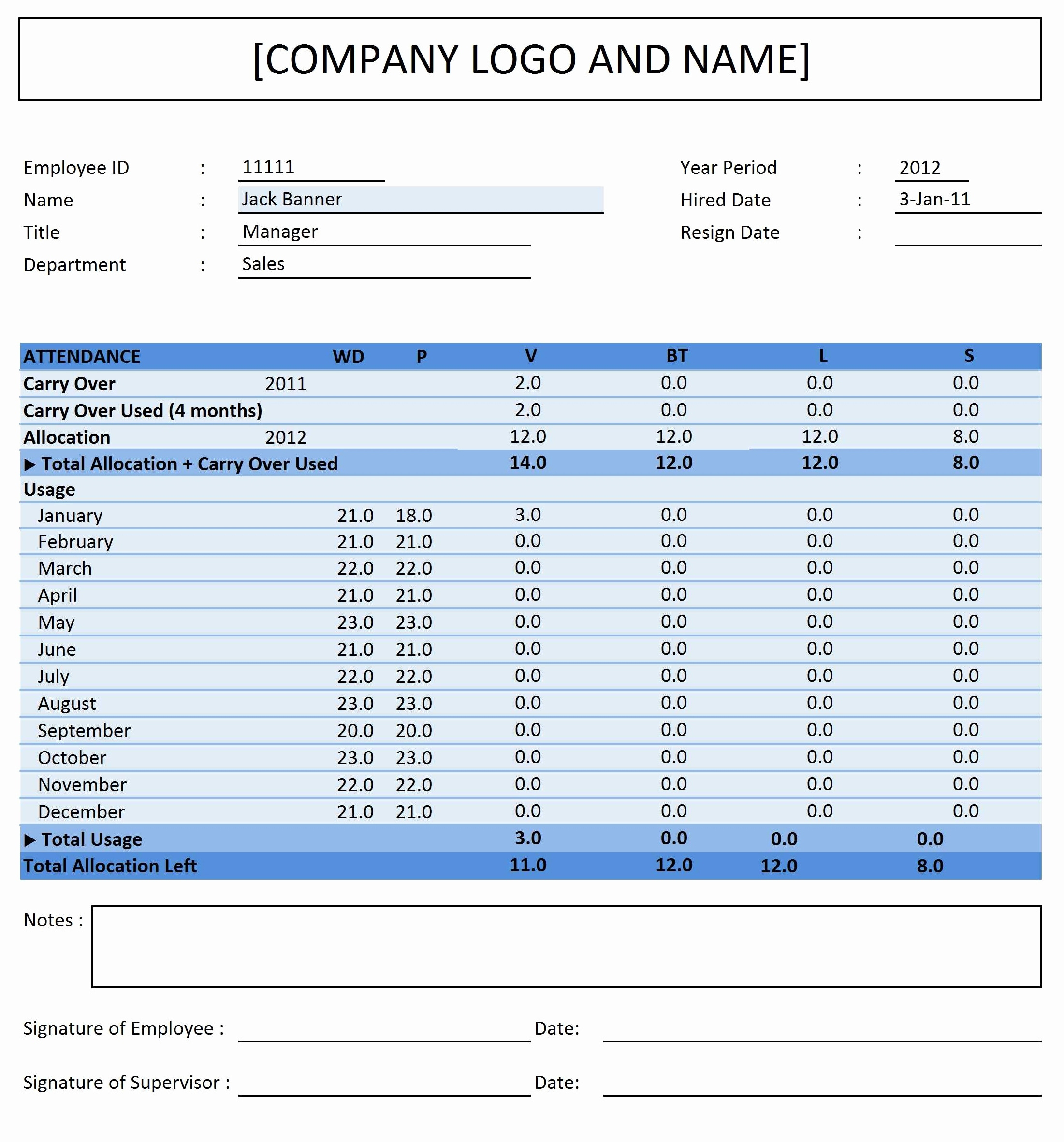 8X2Fc4C Example Of Time Off Tracking Spreadsheet Blank Employee Intended For Tracking Employee Time Off Excel Template