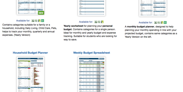 9 Useful Budget Worksheets That Are 100% Free Throughout Monthly Spreadsheets Household Budgets