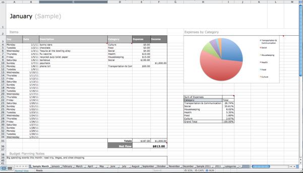 A Month Fancy Free Excel Expense Tracker   Resourcesaver To Excel Expense Tracker