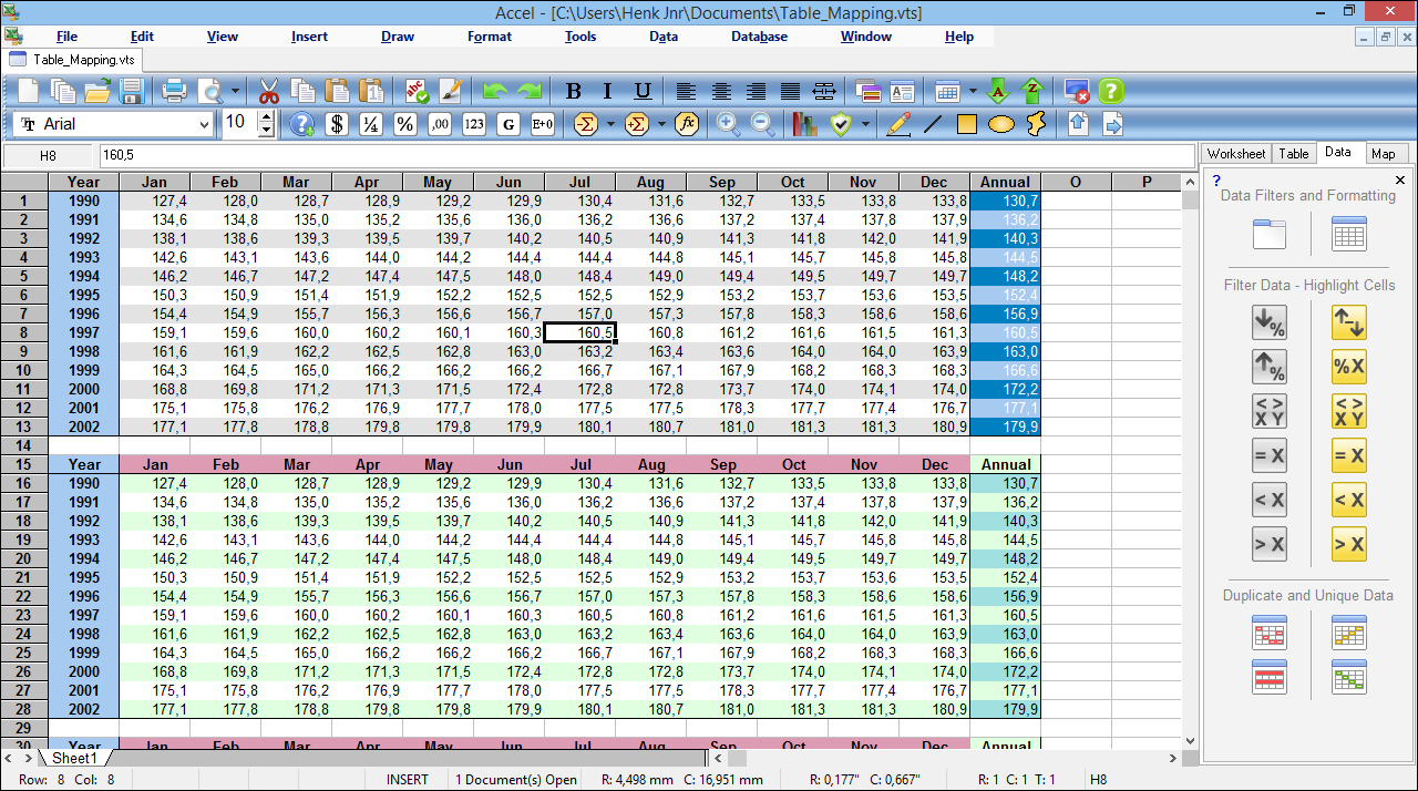 Accel Spreadsheet   Ssuite Office Software | Free Spreadsheet Inside Spreadsheet Database Software