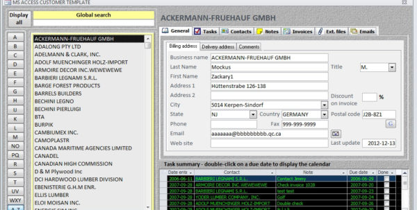 Access Client Database Template   Durun.ugrasgrup For Inventory Management Template Access 2007