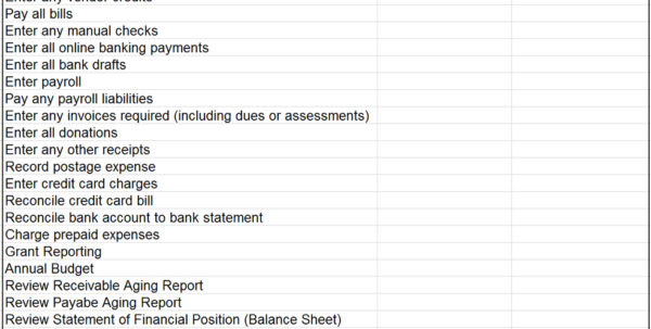 Accounting Checklist   Mason Consulting Group In Monthly Accounting Checklist Template
