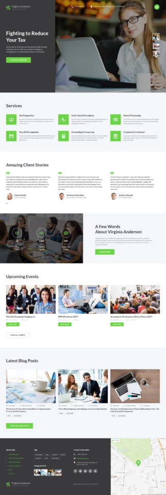 Accounting Web Template With Chartered Accountants Website Templates