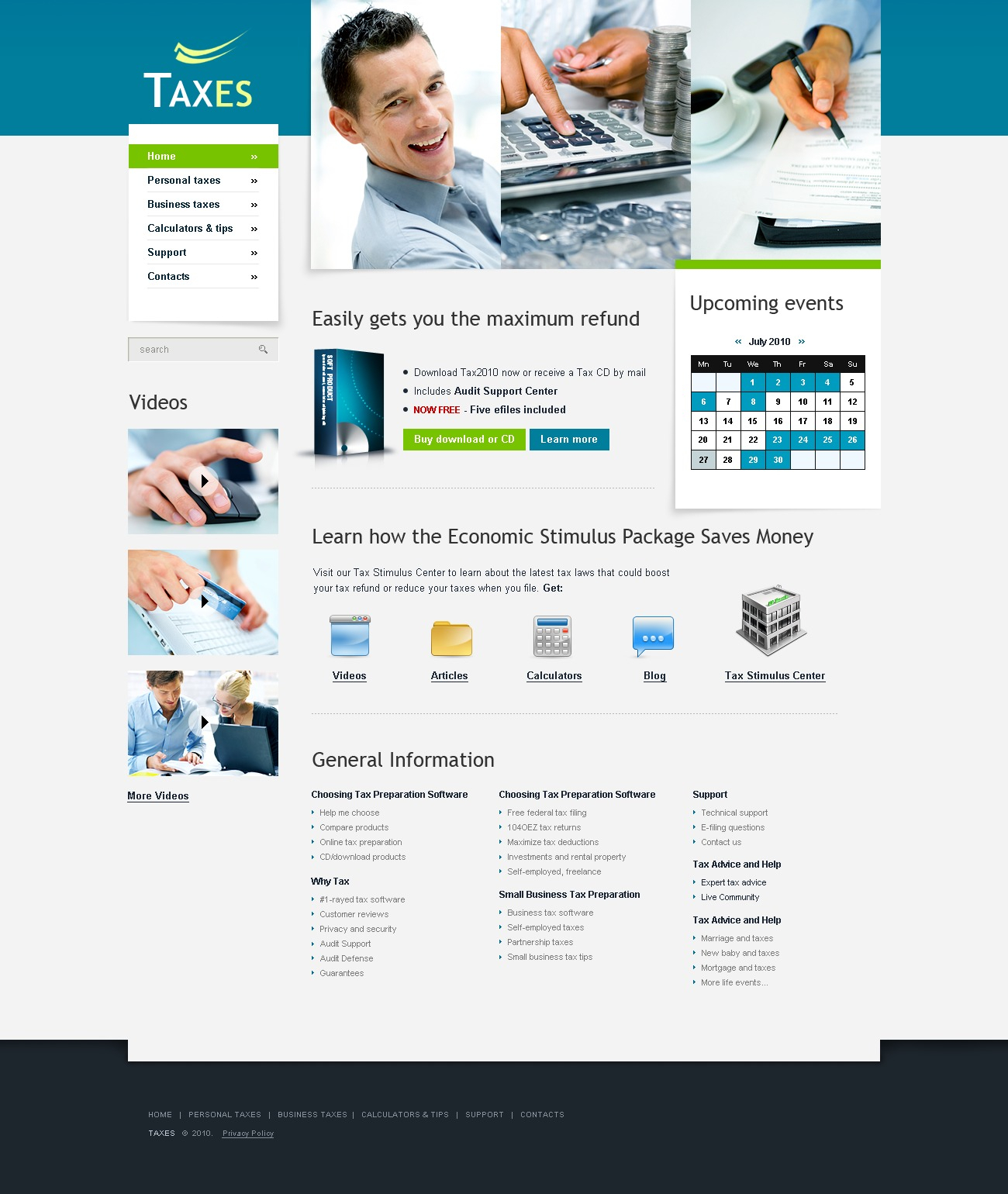 Accounting Website Website Template #30624 For Accounting Website Templates Free Download