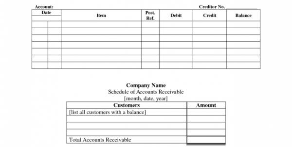 Accounts Ledger Template Excel   Durun.ugrasgrup Within Free Accounts Payable Templates