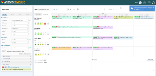 Activity Timeline Resource Planning | Atlassian Marketplace Throughout Project Timeline Planner