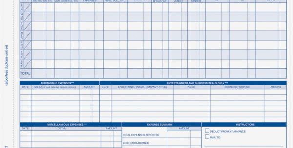 Adams Weekly Expense Report Forms   R&a Office Supplies In Office Expense Report