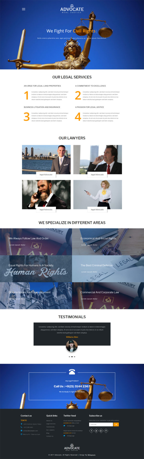 Advocate A Business Category Bootstrap Responsive Web Template Throughout Chartered Accountant Website Templates Free Download