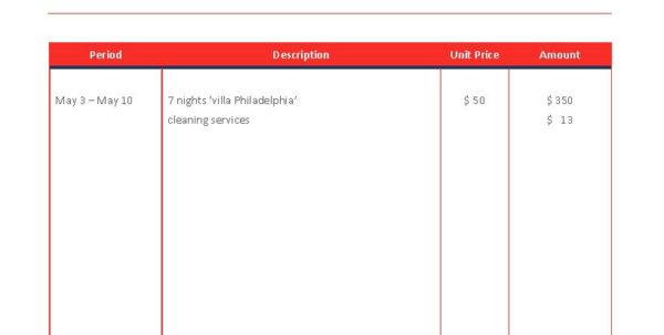Airbnb Rental Invoice Template   Premium Schablone Throughout Rental Invoice Template